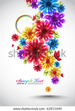 Colorful Vector Spring Element - stock vector