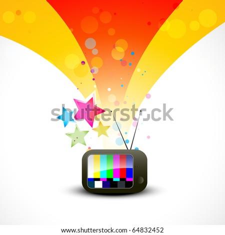colorful vector tv illustration design - stock vector