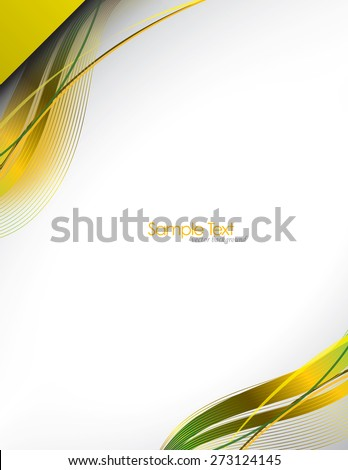 Colorful Vector Wavy Background. - stock vector