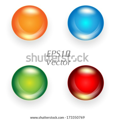 colorful vector web buttons set. Eps10