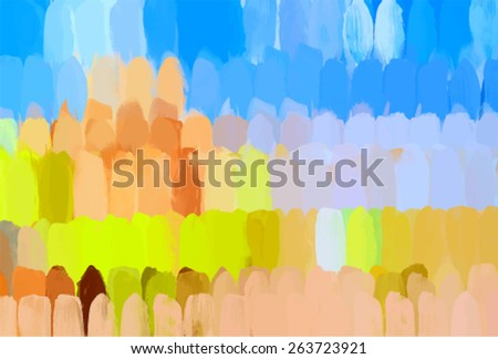 Colorful vertical brush strokes background. Vector version