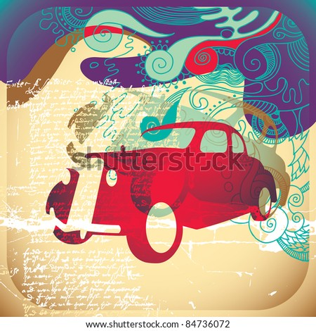 Colorful vintage background.  Vector illustration. - stock vector