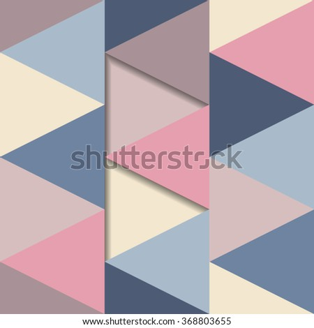 Colorful vintage seamless pattern with triangles 3d concept - stock vector