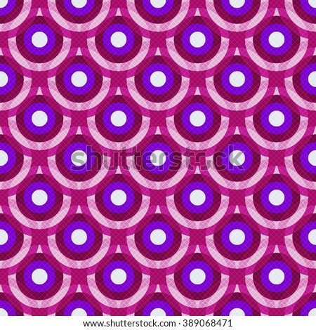 Colorful vintage violet-purple-white seamless pattern with translucent circles and web (vector eps10) - stock vector