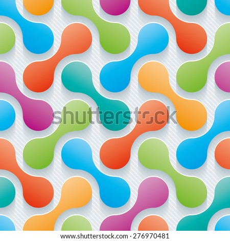 Colorful Wallpaper Abstract 3d Seamless Background Vector EPS10
