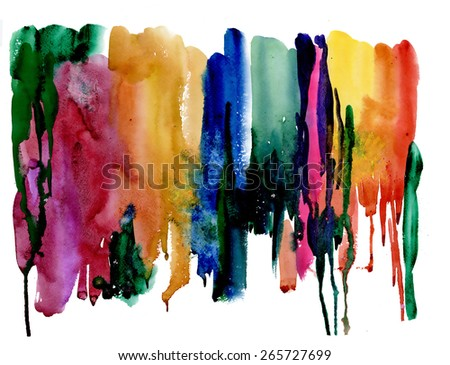 Colorful watercolor abstract background vector illustration