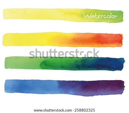 Colorful watercolor banners. vector illustration - stock vector