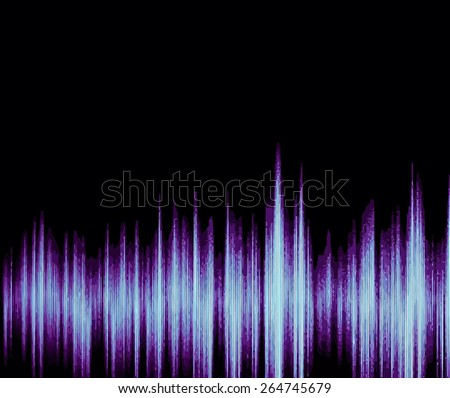 Colorful waveform, vintage abstract background and symbol for music, sound engineering, and dance - stock vector