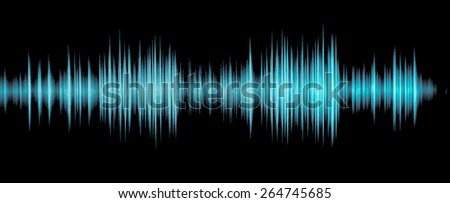 Colorful waveform, vintage abstract background and symbol for music, sound engineering, and dance