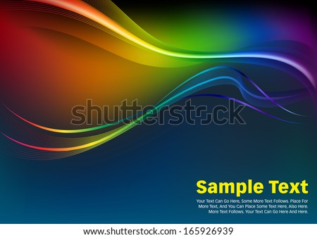 Colorful Waves and Lines Vector Background. Abstract background with colorful waves. Colorful Waves and Lines Vector Background. - stock vector