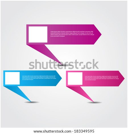 colorful  web banners / speech boxes. - stock vector