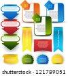 colorful web element set - stock vector