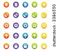 Colorful Web Icons Set 2 (Vector) Round icons for web and print--easy to edit. No transparencies - stock vector