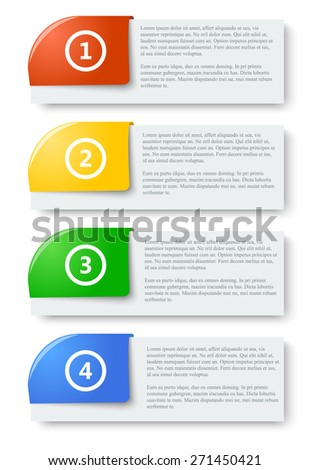 Colorful Web Stickers, Tags and Labels - Illustration. eps10 - stock vector
