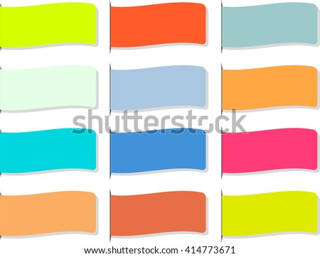 Colorful web stickers vector set