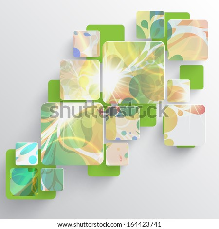 Colorful web vector template illustration - stock vector