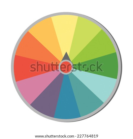 Colorful wheel of fortune - stock vector