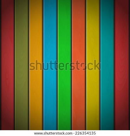 Colorful wood plank background, vector illustration
