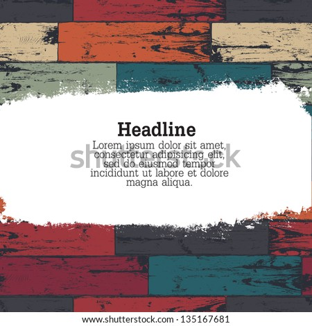 Colorful wooden background. Vector, EPS10 - stock vector