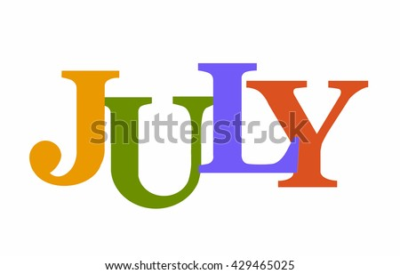 Colorful word JULY