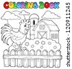 Coloring book bird image 3 - vector illustration. - stock photo