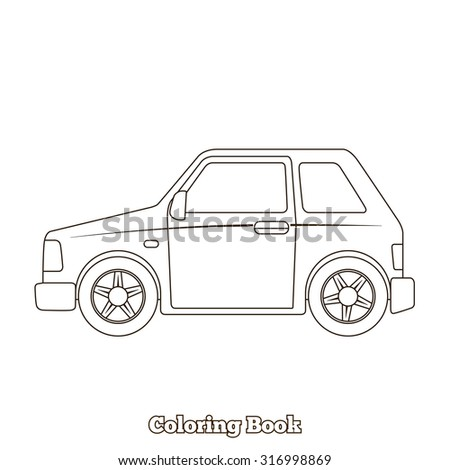 Coloring Book Car Educational Game Vector Illustration
