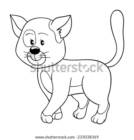 Coloring Book Cat Stock Vector 456964807