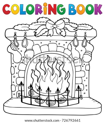 Coloring book Christmas thematics 6 - eps10 vector illustration.