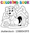 Coloring book dog theme 1 - eps10 vector illustration. - stock vector