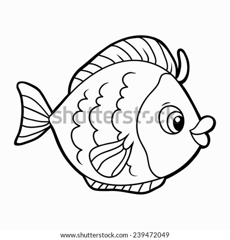 Fried fish coloring coloring coloring pages for Colorful fish book