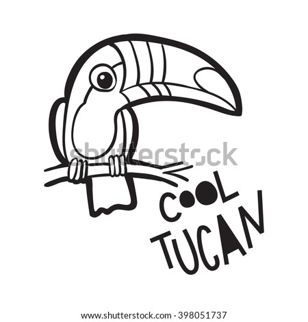 coloring book for adults tropical bird toucan in cartoon style the phrase cool - Cool Coloring Books For Adults