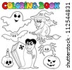 Coloring book Halloween topic 7 - vector illustration. - stock vector