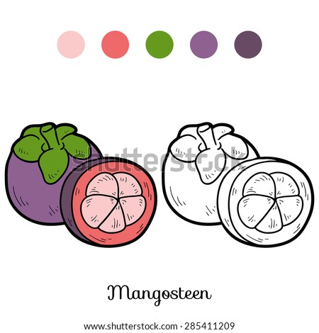 Coloring book (mangosteen)