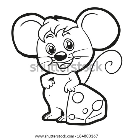 coloring book mouse
