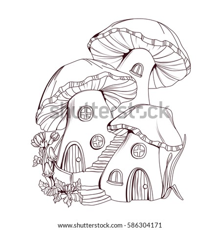 Coloring Book Mushroom Houses Fairy Tale Stock Vector (2018 ... on zentangle horse, zentangle sea, zentangle kindness, zentangle fancy letters, zentangle fire, zentangle birds, zentangle books, zentangle faces, zentangle leaves, zentangle fish, zentangle dragon, fairy pencil drawings of tree houses, zentangle easter, zentangle tree, valentine fairy houses, vintage fairy houses, zentangle fairies, zentangle dragonfly, zentangle art, steampunk fairy houses,