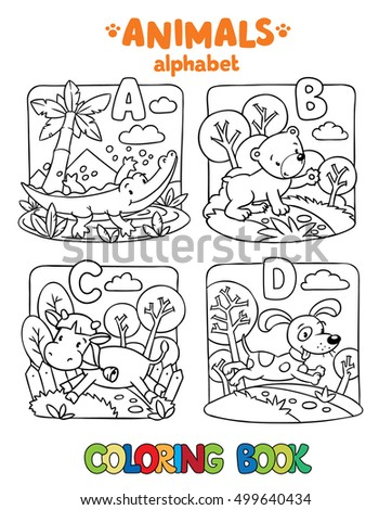 Coloring Book Coloring Picture Funny Alligator Stock Vector ...