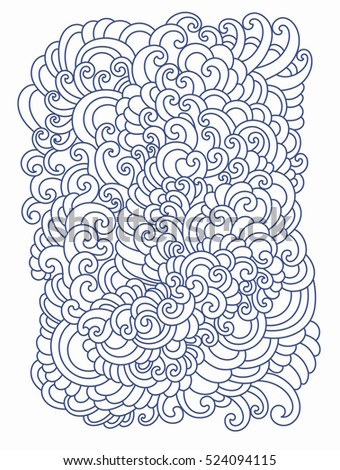 Coloring book page. Doodle pattern. Vector illustration hand drawn. Thin line drawing.
