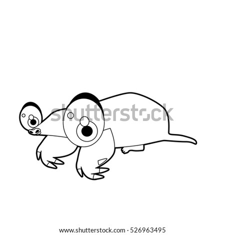 coloring book page funny cartoon comic cool nice animals mole