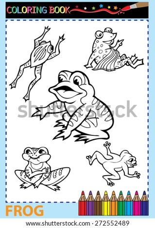 Coloring Book Pages Vector Illustration