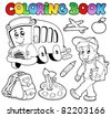 Coloring book school cartoons 2 - vector illustration. - stock vector