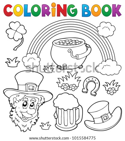 Coloring book St Patricks Day theme 1 - eps10 vector illustration.