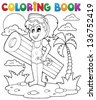 Coloring book summer activity 2 - eps10 vector illustration. - stock vector