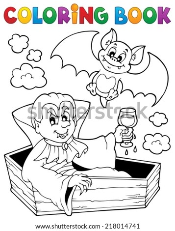 Coloring book vampire theme 1 - eps10 vector illustration. - stock vector