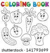 Coloring book vegetable theme 1 - eps10 vector illustration. - stock photo