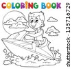 Coloring book water sport theme 2 - eps10 vector illustration. - stock vector