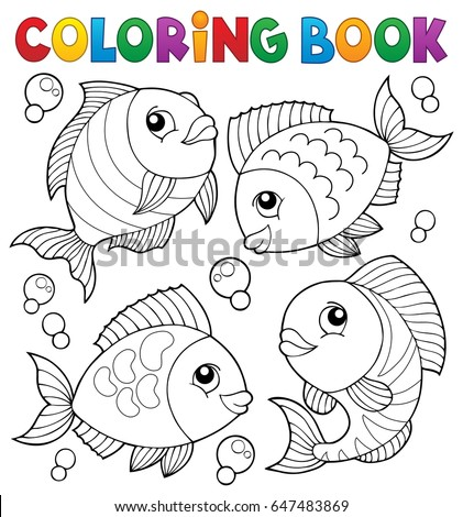 Fish theme image 4 eps10 vector stock vector 133807433 for Colorful fish book