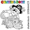 Coloring book with pirate theme 8 - vector illustration. - stock vector