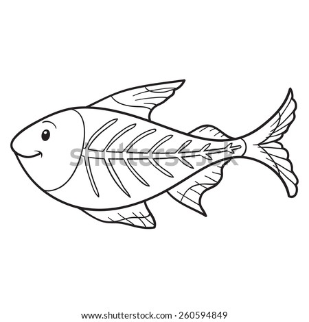 X Ray Fish Coloring Page