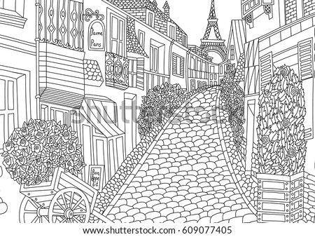 spanish coloring pages for adults | Coloring Adult Barcelona Spain Catalonia Coloring Stock ...