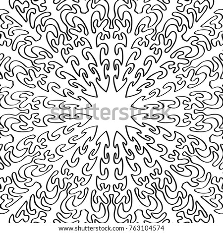 Coloring Page Adults Part Intricate Mandala Stock Vector 763104574 ...